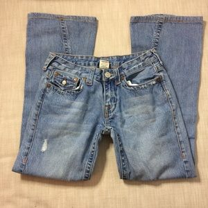 TRUE RELIGION Joey Flare Distressed Jeans